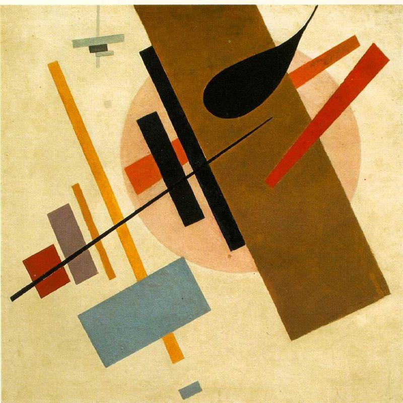 马列维奇更为抽象的作品让意大利 劳瑞《足球比赛》   黑色代表大脑