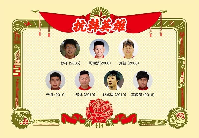 抗韩英雄!近十年面对韩国进球的中国球员! - 足