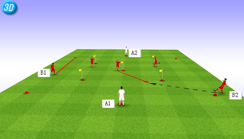 一刻足球3D训练教案第十二期--攻防训练(1)