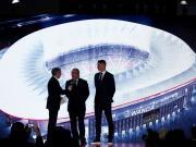 图集:马德里竞技召开发布会,宣布万达成为新球场冠名商