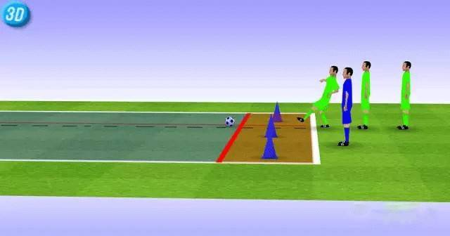 一刻足球3D训练教案第32期--足球标志锥小游