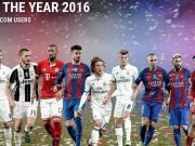 欧足联年度最佳阵容:皇马四人,巴萨三人