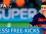 欧足联官方回顾:梅西在欧战中的任意球破门