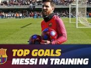 队友也挡不住,梅西在训练中的最佳进球