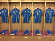 乌克兰国家队2017-18赛季主客场球衣发布