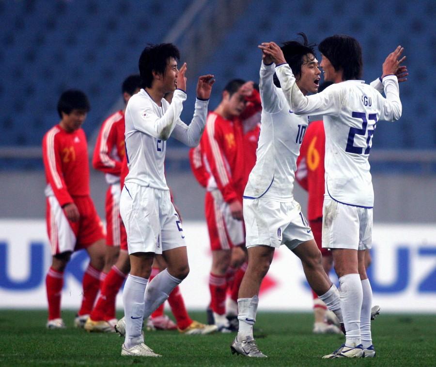 2008年东亚四强赛:中国2-3韩国