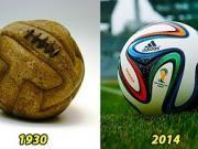 从1930至2014年,世界杯比赛用球的变迁史