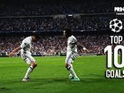欧冠1/4决赛十佳球:C罗和迪巴拉领衔
