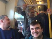 来自拍,球迷地铁偶遇曼奇尼