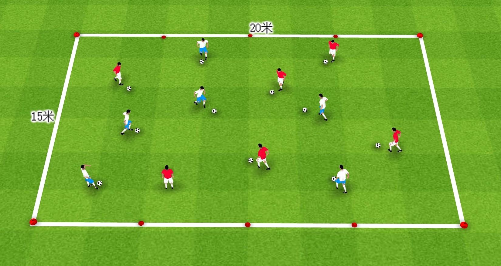 足球教案 | 通过3个小游戏提高球员的控球能力