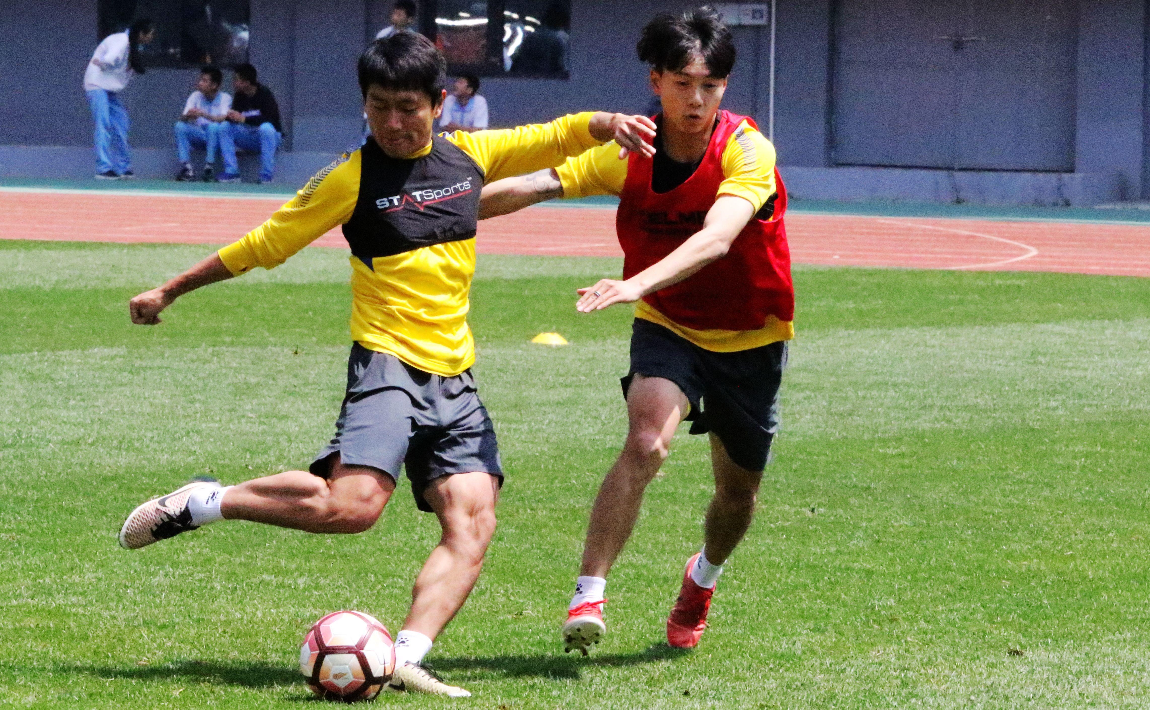青岛黄海足球队在自己的主场进行了赛