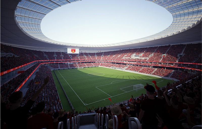 河北华夏幸福新球场设计方案全民投票
