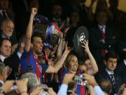 巴萨3-1阿拉维斯国王杯三连冠,梅西、内马尔传射,帕科破门