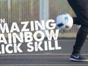 STR足球教室:脚后跟夹球后磕过人