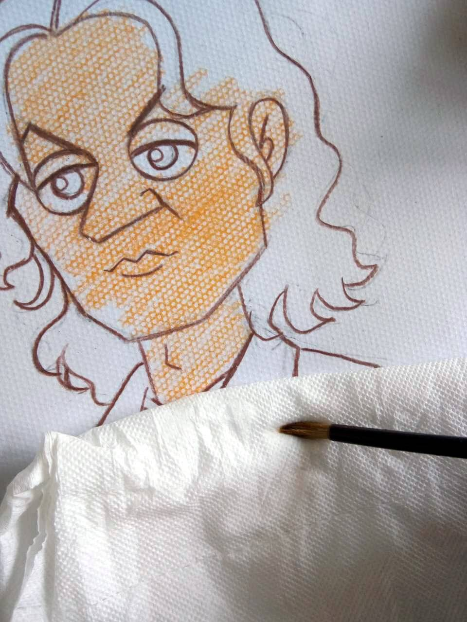 彩铅简笔画衣服
