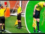 你见过球员给裁判出示红牌吗?球场上那些有趣的红牌瞬间!