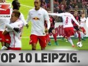德甲官方评选莱比锡赛季十佳进球,升班马爆发惊人能量