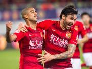 恒大2-0华夏幸福豪取十连胜锁定半程冠军,高拉特、阿兰建功
