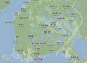 (图)芬兰地图