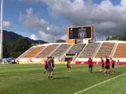 阳光明媚的一天,一起看看利物浦在旺角大球场的公开训练