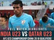 比赛集锦:卡塔尔U23 1-0 印度U23