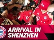 拜仁全队抵达深圳,气温高,球迷的热情更高
