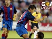 巴萨每日一球:03年对阵尤文萨维奥拉补射破门