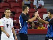 国米2-0拜仁,埃德尔半场头球梅开二度,里贝里伤退