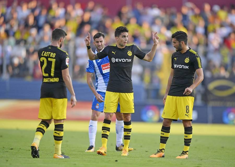 多特0-1西班牙人,奥巴梅扬失良机,达胡德首秀,皮亚蒂绝杀