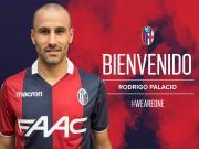 官方:博洛尼亚签下帕拉西奥