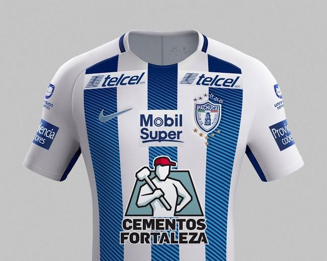墨西哥帕丘卡2017-18赛季主客场球衣发布!图片