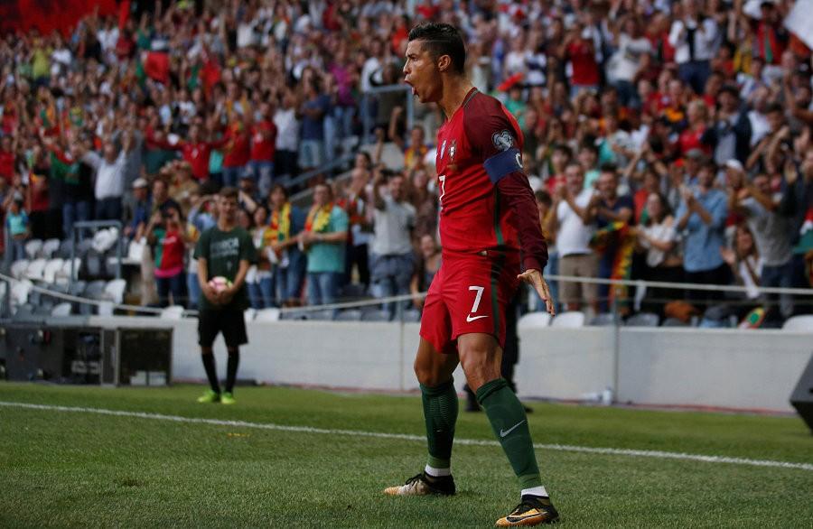 葡萄牙5-1法罗群岛,c罗上演帽子戏法,威廉-卡瓦略传射