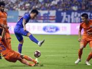 比赛集锦:上海绿地申花 0-0 山东鲁能泰山