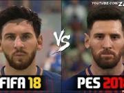 布教授游戏脸型太逼真,巴萨众星在FIFA18和PES2018长什么样