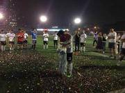 懂球帝2-1哇咔足球,我懂球员成功求婚,团团、教练破门献礼