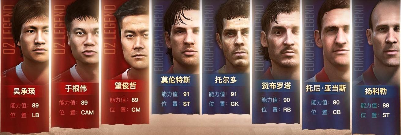 FIFA OL3新传奇登场:02中国传奇+欧洲国家传