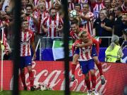马竞2-0塞维利亚,格列兹曼建功,卡拉斯科破门,菲利佩中柱