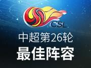 中超第26轮最佳阵容:郜林强势登榜,上海双雄献五将