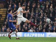切尔西3-3罗马,阿扎尔、哲科各入两球,大卫-路易斯建功