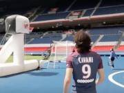 你以为法甲射手王只有足球射得准?卡瓦尼打篮球照样溜的飞起