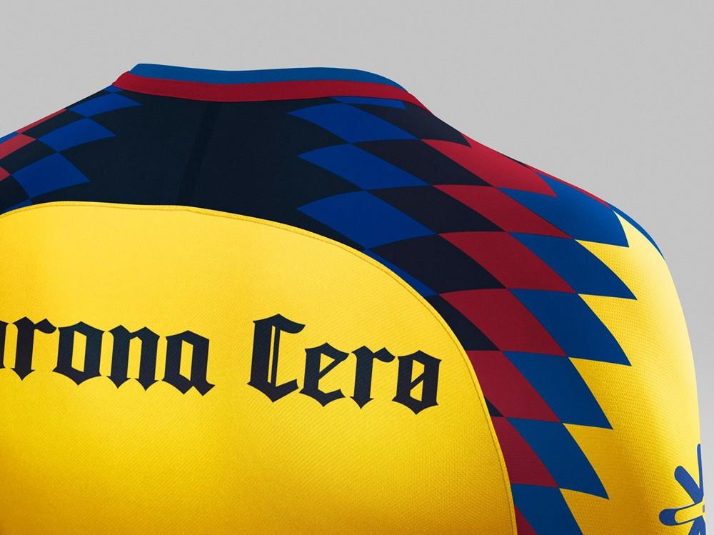 美洲色�_雄鹰展翅,墨西哥美洲推出2017/18赛季第二客场球衣