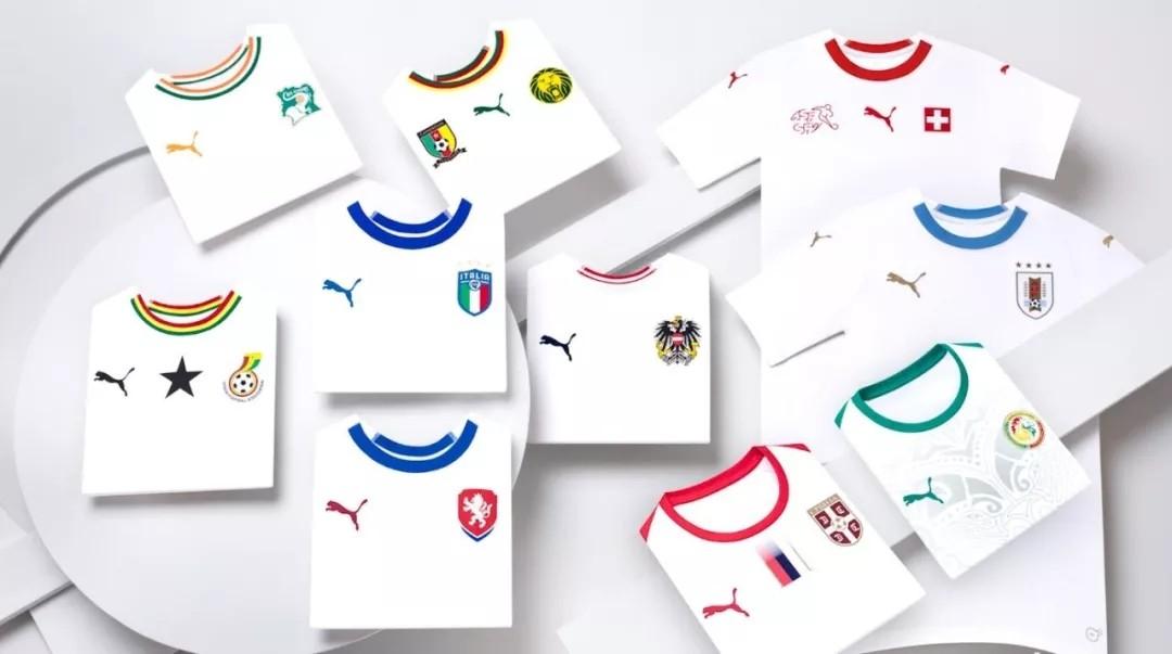 2018俄罗斯世界杯球衣巡礼一puma,umbro等品牌