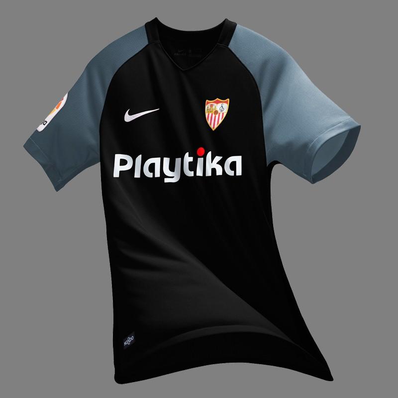 塞维利亚2018-19赛季主客场球衣发布!图片
