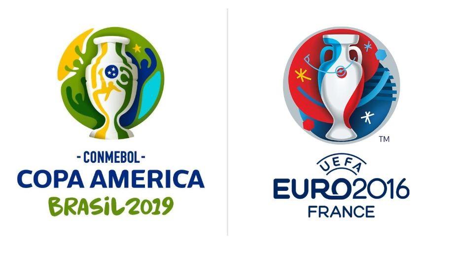 巧了?2019美洲杯与2016欧洲杯logo的相似度极高图片
