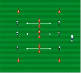 足球青训课 | U7-U8传接球练习 (一)
