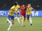 比赛集锦:中国女足 2-2 巴西女足