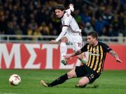 比赛集锦:雅典AEK 0-0 AC米兰