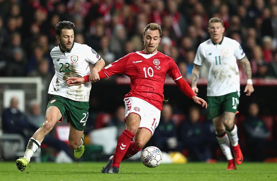 丹麦0-0爱尔兰兰道夫两连扑 西斯托失良机
