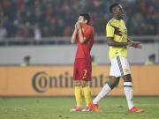 比赛集锦:中国 0-4 哥伦比亚