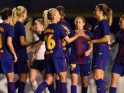 巴萨女足3-0完胜吉特拉女足,总比分9-0挺进欧冠八强
